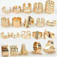6pcs/Set Job Lot Boho Knuckle Gold Jewellery Adjustable Finger Toe Ring Mixed