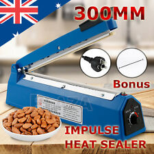 Brand New Impulse Heat Sealer 300mm Electric Plastic Poly Bag Sealing Machine AU