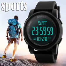 Casual Men Led Digital Watch Military Sport Silicone Waterproof Travel Work Gift