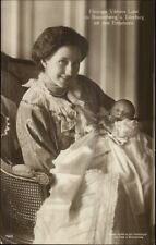 German - Duchess Herzogin Viktoria Luise & Baby c1910 Real Photo Postcard