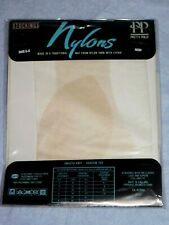 PRETTY POLLY NYLONS FINE STOCKINGS IVORY SIZE LARGE (SHOE 6 - 8) - VINTAGE