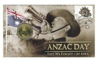 Australia 2012 ANZAC Day Lest We Forget - 25 April $1 UNC Coin & Stamp PNC Cover