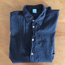Barney's COOP Black Button Down Shirt Cotton Summer XL