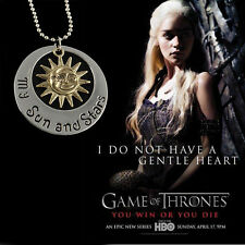 "1pc Vintage""Game of Thrones""Khal & Khaleesi Moon of My Life Pendants Necklace"