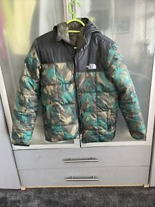 Boys North Face Reversible Coat Size Large