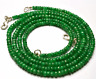 """1 STAND GENUINE Super Natural Emerald Faceted Rondelle beads Necklace 3 -5MM 19"""""""