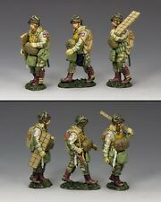 King and Country ww2 U.S. Walking PARAS Set (82nd) D giorno dd265-1
