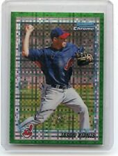 "2010 BOWMAN CHROME #BCP196 JASON KIPNIS ""GREEN XFRACTOR"" RC, INDIANS, 081115"