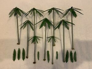 HO Scale Lot of 9 Assorted Palm Trees