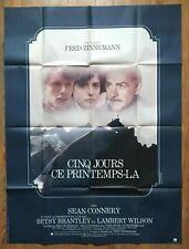 Cinq jours ce printemps-là (Five Days One Summer), affiche cinéma 1982, 120x160