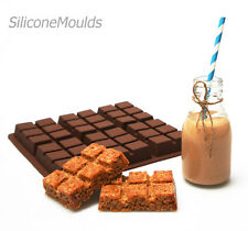6 cell Flapjack Chocolate Candy Bar Silicone Bakeware Mould Cake Mold Pan Fudge