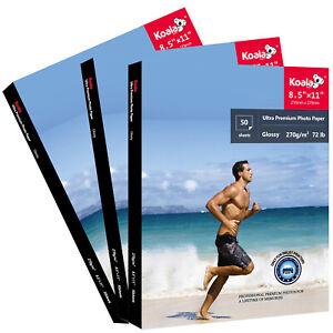 150 Sheets Koala Premium Glossy Photo Paper 8.5x11  Inkjet Printer 270g Epson HP