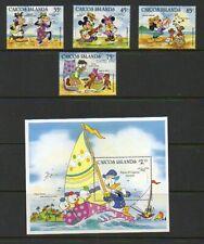 """Caicos Islands """"Easter 1984"""" - Scott #'s 42-46 - Disney Topical - MNH"""