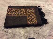 NWT Leopard Print Brown Poncho Shawl Brand Cejon Retails $58