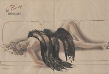 PIN-UP à la FOURRURE Affiche originale entoilée Offset Roger BRARD 50-51 50x34cm