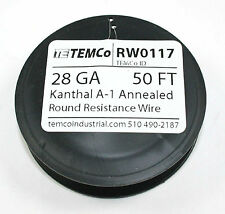 Kanthal A-1 Wire, 50 FT spool -  28Gauge   ( RW0117 )