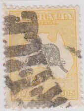 (PA165) 1915 Au 5/- Grey &yellow Kangaroo cancel ow42