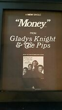 Gladys Knight and The Pips Money Rare Original Promo Poster Ad Framed!