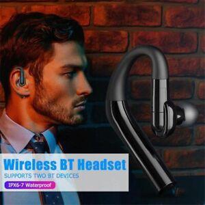 Bluetooth V5.0 Stereo Headset Wireless Music Earpiece for Motorola Xiaomi iPhone