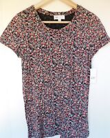 NWT GAP Women's Favorite Crew Neck T-Shirt Black Floral XS Free Ship NEW