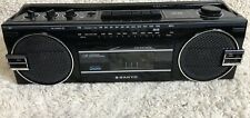 Sanyo Vintage Single Cassette AM/FM Stereo Boombox Player Recorder Black M7022