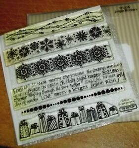 CTMH D1225 JINGLE BORDERS ~ Snowflakes, Gifts, Christmas sentiments, Ornaments