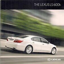 Lexus LS 600h & 600h L Hybrid 2010 UK Market Sales Brochure