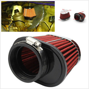 2pcs 55mm/2.15in Car Air Intake Filter Kit Red Round Tapered  Universal Fitment