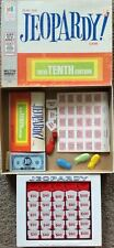 1972 JEOPARDY 10TH EDITION BOARD GAME VINTAGE EUC COMPLETE