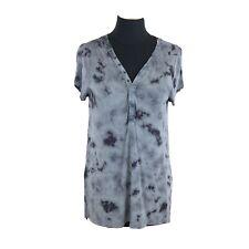 American Eagle Soft & Sexy Gray Tie Dye Tunic Short Sleeve Shirt Size Medium