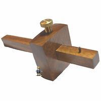 "HAWK TJ1425W - 3"" RoseWood Hand Marking Gauge nice finish brass locking Screw"