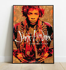More details for jimi hendrix poster, hendrix exhibition print, rock band poster