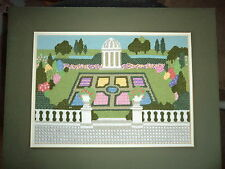 Completed Needlepoint Picture -  Beautiful Gardens