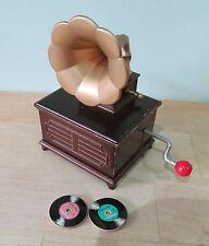 RARE TOMY WIND UP MUSICAL BOX - GRAMOPHONE