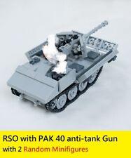 WW2 German half track Raupenschlepper Ost RSO World War 2 (II) moc anti tank PAK