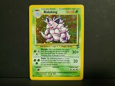 Nidoking 11/130 - Base Set 2 HOLO RARE Pokemon Card - LP/ Lightly Played
