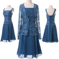 Mother Of The Bride Outfit LACE Masquerade Wedding Evening Occasion Dress+JACKET