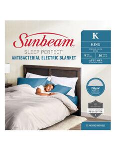 Sunbeam Sleep Perfect Antibacterial Electric Blankets