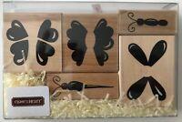 Flying Friends Butterflies 5 Rubber Stamp Set 5494 CTMH JRL Design