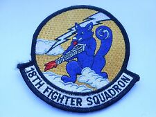 RAF /USAF  aviation squadron cloth patch   18th fighter squadron