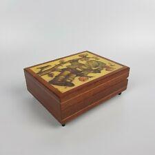 Scatola Portagioie musicale Carillon in Legno Decorato Hand Inlaid Made in Italy