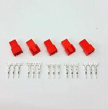 PK del 5-Maschio 3 Pin Fan connettore di alimentazione-Rosso Inc PIN