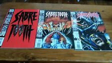 SABRETOOTH 1-3 VF+ FEATURING WOLVERINE!