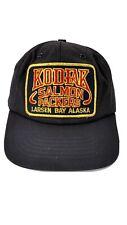 Vintage Snapback Salmon Packers Larsen Bay Alaska Kodiak Trucker Patch Hat USA