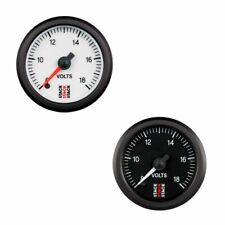 Stack Professional Battery Voltmeter Electrical Gauge - White Dial Face