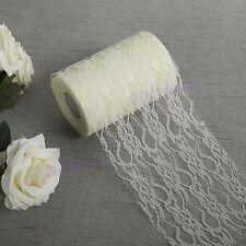 Lace Roll 15cm x22M Table Runner Chair Sash Wedding Bouquet Venue Decoration