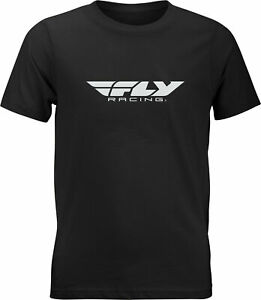 Fly Racing Youth Fly Corporate Tee Black Yl 352-0664Yl