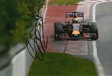 Daniel Ricciardo Hand Signed 12x8 Photo 2015 Infiniti Red Bull.