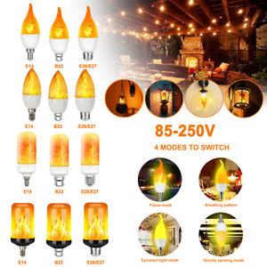 LED Flicker B22 E27/26 E14 Flame Light Bulbs Simulated Nature Fire Effect Lamp