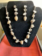Chloe & Isabel African Plains Collar Necklace N557BGAG Mismatched Drop Earrings